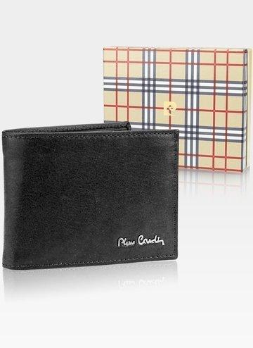 Skórzany portfel męski Pierre Cardin Tilak50 8805 RFID Czarny