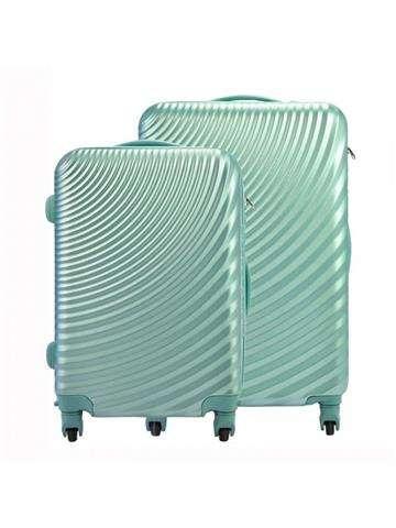 Komplet walizek 2w1 A4 Pierre Cardin ABS8077 RUIAN11 x2 Z zielony