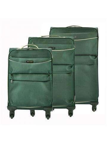 Komplet walizek 3 w 1 A4 Pierre Cardin DAVID03 SH-6907 x3 Z zielony