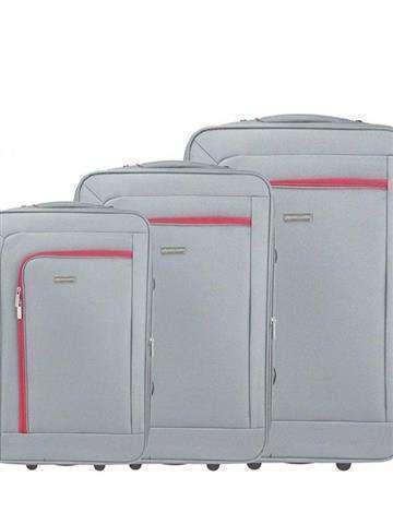 Komplet walizek 3w1 Pierre Cardin 161031 LINQU02 Z beż + czerwony