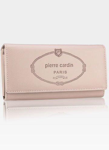 Luksusowy Modny Portfel Damski Pierre Cardin Róż