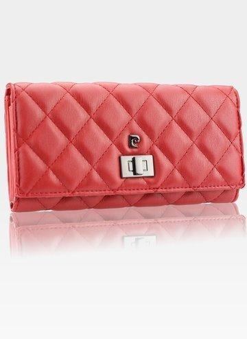 Luksusowy Modny Portfel Damski Pierre Cardin lady07 8671 Rosso