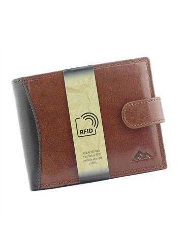 Męski  skórzany portfel EL FORREST 545-21 RFID brązowy