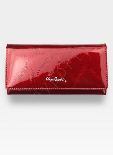 Portfel Damski Pierre Cardin Skórzany Czerwony w Liście 100