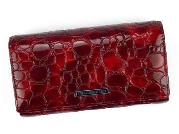 Portfel Damski Skórzany Gregorio FZ-107 czerwony Skóra Naturalna Lakierowana