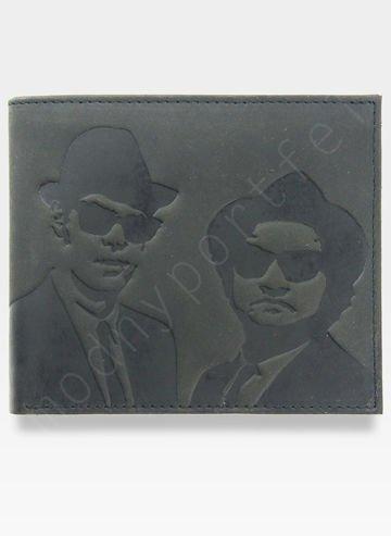 Portfel Męski Mustard BLUES BROTHERS Inspiracja z filmu SLIM
