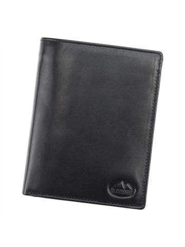 Portfel męski skórzany EL FORREST 861-67 RFID czarny