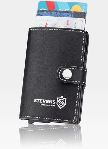 STEVENS Mały Portfel Męski Slim RFID STOP HIT NOWOŚĆ