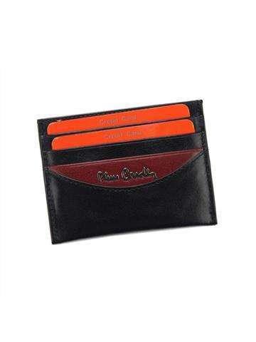 Skórzane Etui na Karty Pierre Cardin TILAK29 475 czarny + czerwony