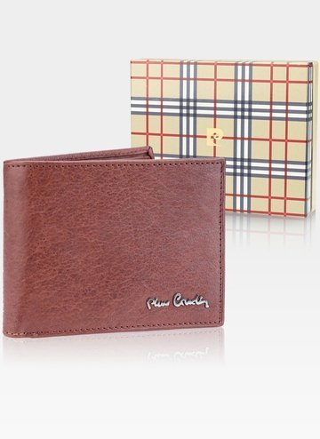 Skórzany portfel męski Pierre Cardin Tilak50 8805 RFID Cognac
