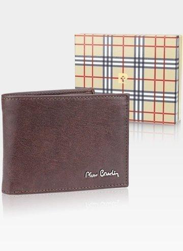 Skórzany portfel męski Pierre Cardin Tilak50 8806 RFID brąz