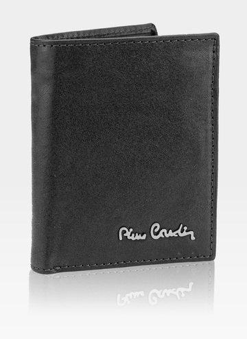 Skórzany portfel męski Pionowy Pierre Cardin Tilak51 1810 RFID Czarny