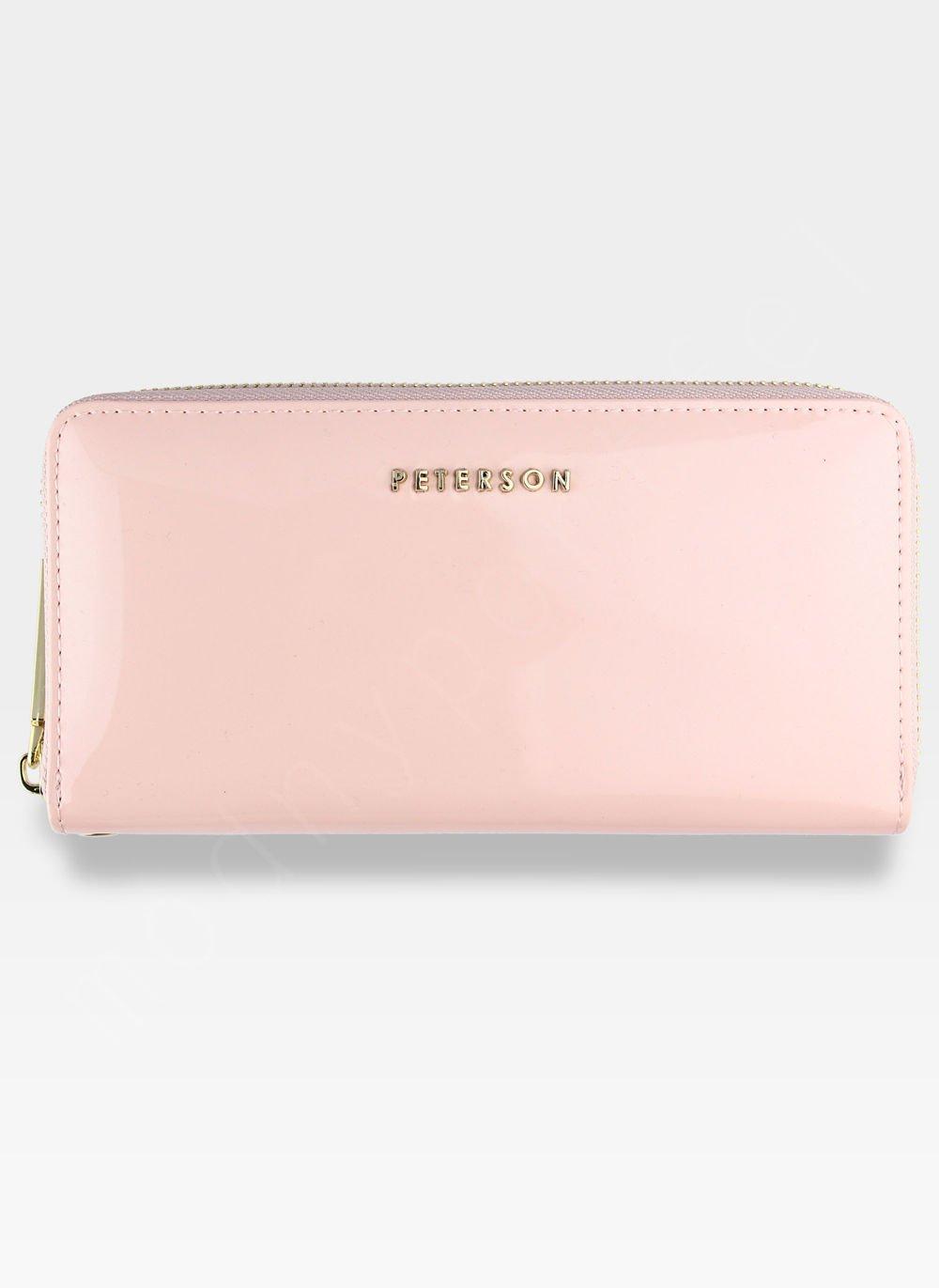 f2d14a09b887f0 Kliknij, aby powiększyć · Portfel Damski Skórzany PETERSON 781 Jasny Różowy  Lakierowany RFID Kliknij ...