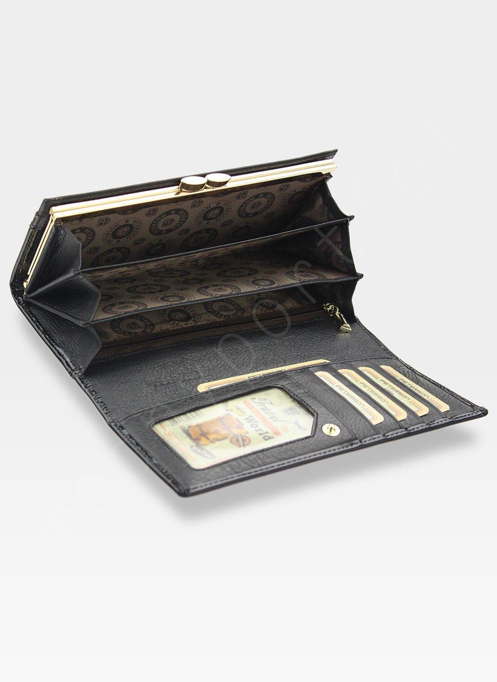 36959f4d5cbf3 Portfel Damski Skórzany PETERSON Duży Elegancki Pojemny System RFID ...