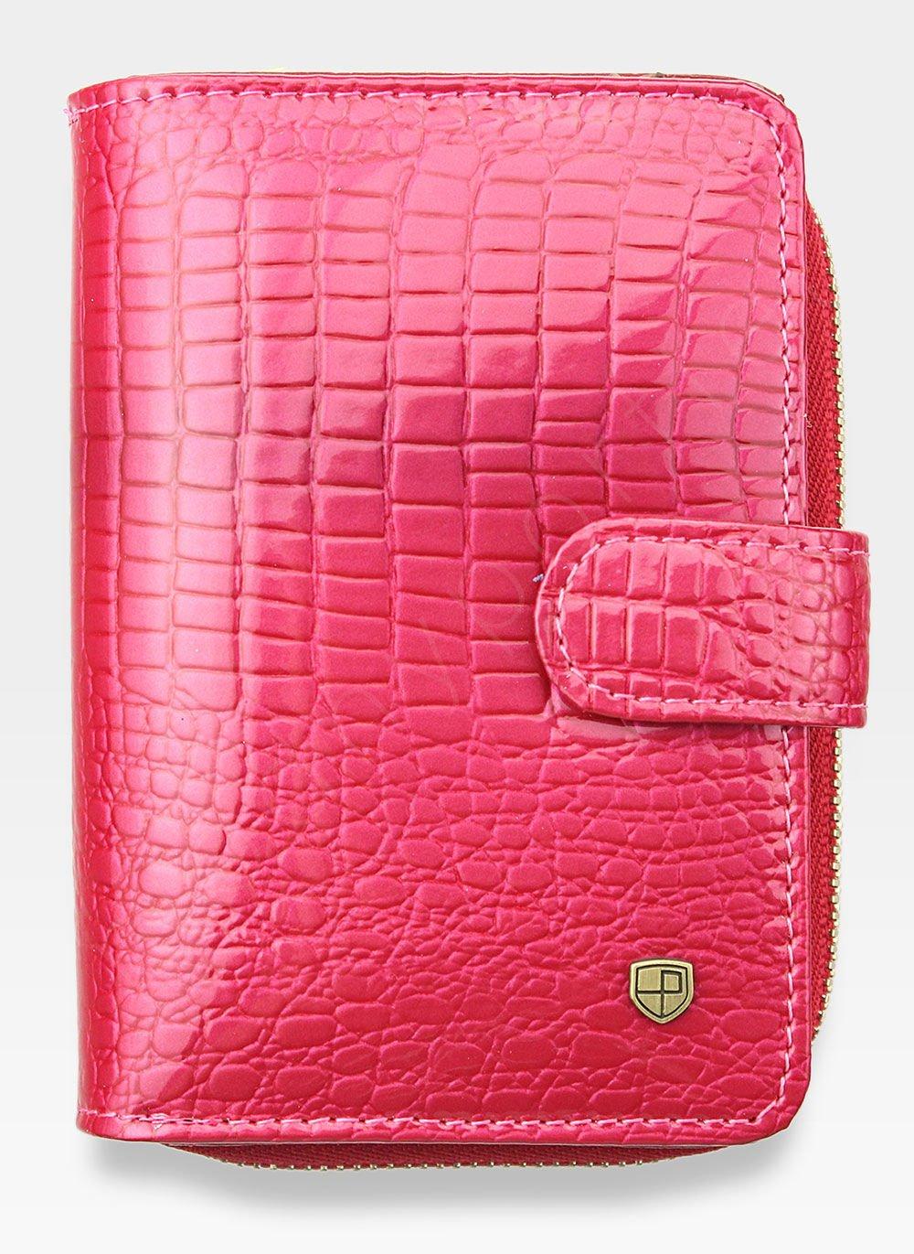 ca46516f045b7 Portfel Damski Skórzany PETERSON Lakierowany 602 Różowy 602 Pink ...