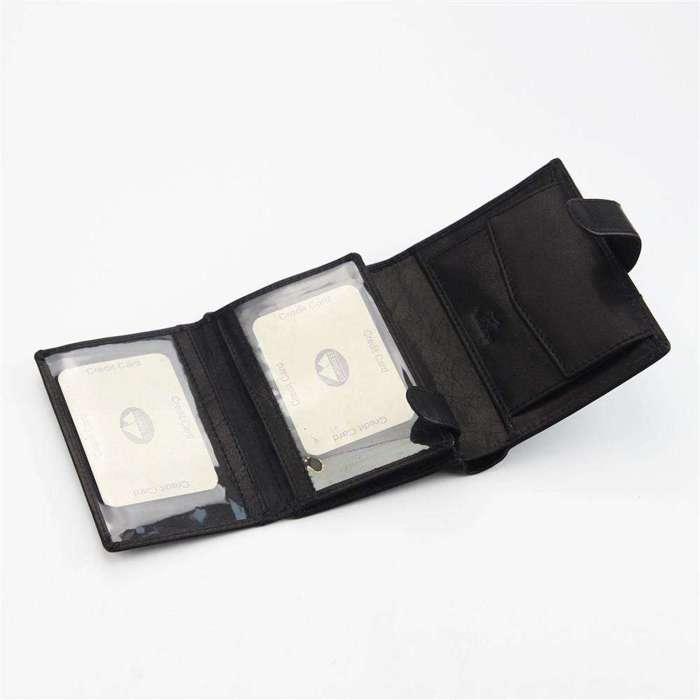 Klasyczny portfel męski skórzany EL FORREST 988-61 RFID czarny