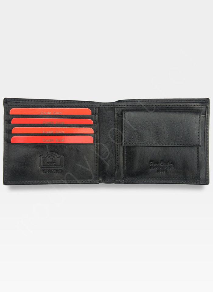 Mały I Cienki  Portfel Męski PIERRE CARDIN Skórzany YS520.1 8824 RFID