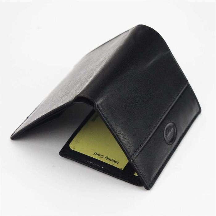 Mały Portfel męski skórzany EL FORREST 896-61 RFID czarny