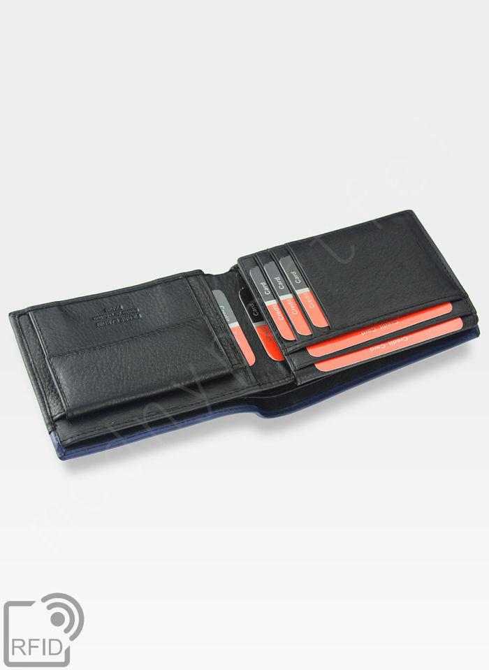 Modny Portfel Męski Pierre Cardin Oryginalny Skórzany Tilak14 8806 RFID