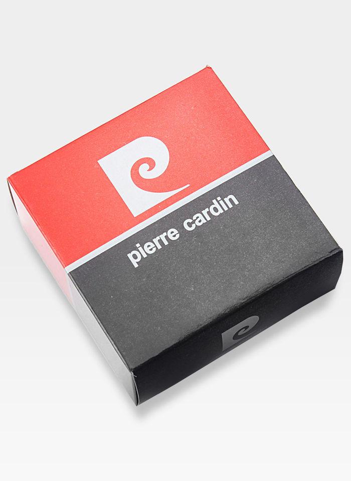 Oryginalny Pasek Pierre Cardin Czarny Metalowa Klamra Oryginał