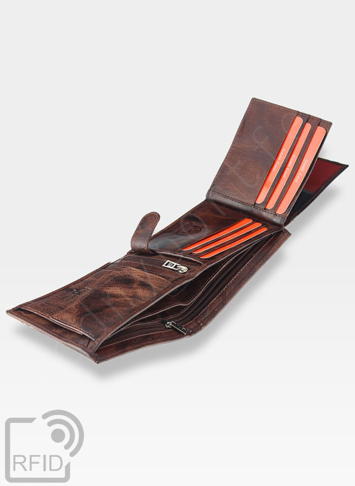 Pierre Cardin Męski Portfel Skórzany Modny Prezent Tilak12 325 RFID Pudełko