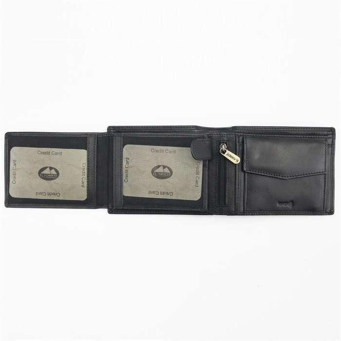 Pojemny Portfel męski skórzany EL FORREST 892/A-67 RFID czarny