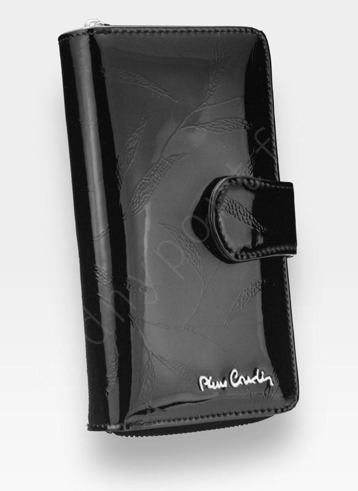 Portfel Damski Pierre Cardin Skórzany Czarny w Liście 116