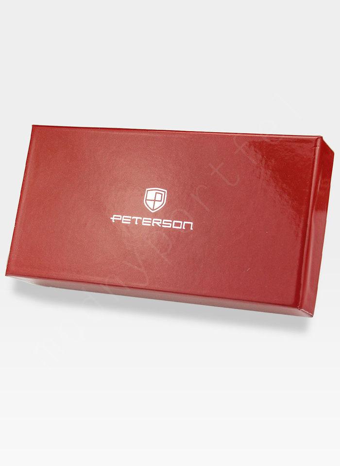 Portfel Damski Skóra Lakierowana PETERSON 463 Czerwony