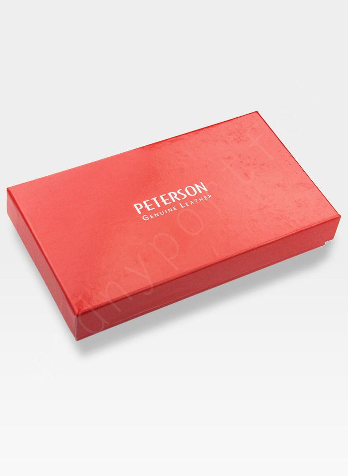 Portfel Damski Skórzany PETERSON 411.01 Granatowy