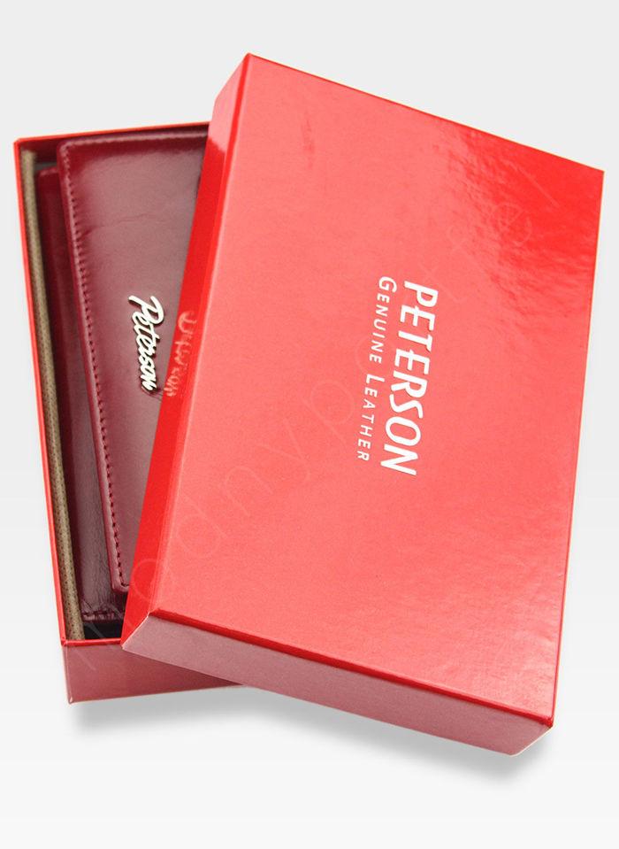 Portfel Damski Skórzany PETERSON 490 Czerwony
