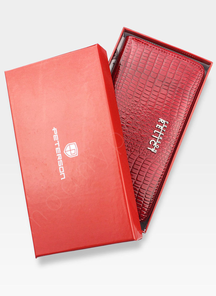 Portfel Damski Skórzany PETERSON 780 Czerwony