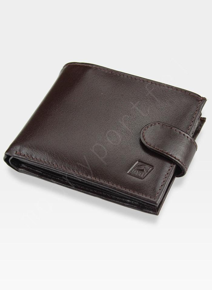 Portfel Męski A-Art Elegancki Klasyczny 3495-04/091 Brązowy RFID