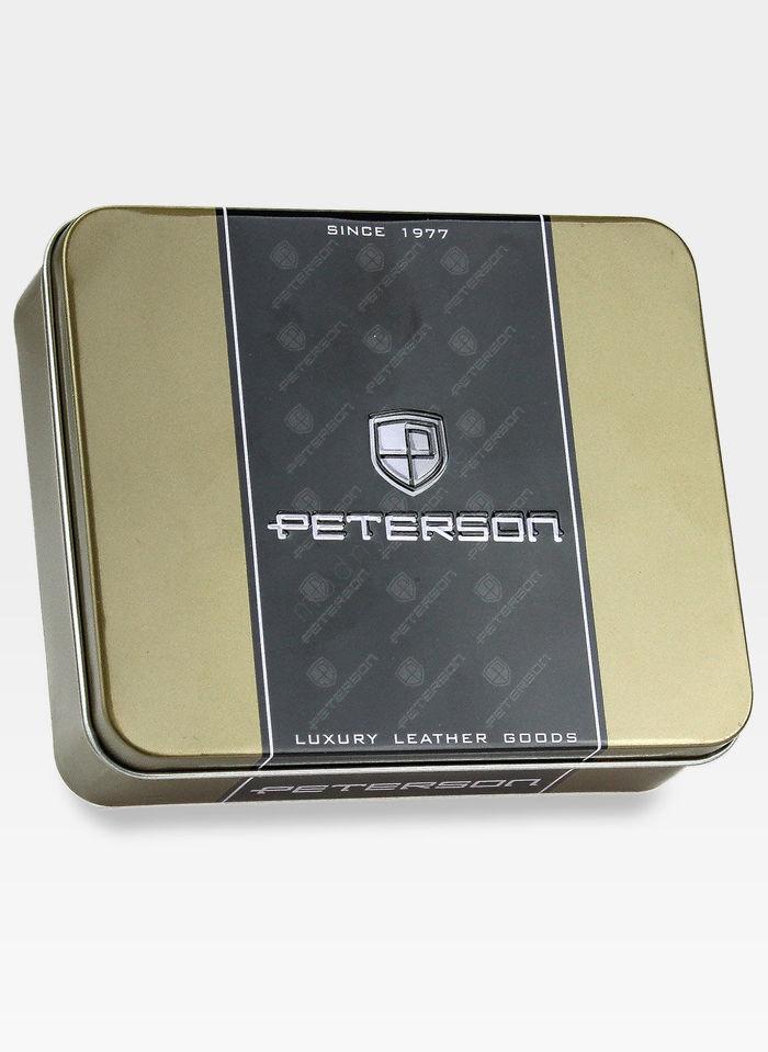 Portfel Męski Peterson Skórzany Ciemny Brąz 316