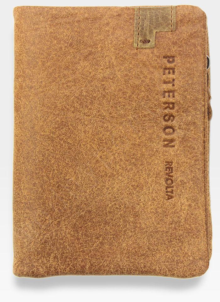 Portfel Męski Peterson Skórzany Miękki Skóra Naturalna SD Card 8102 Carmel