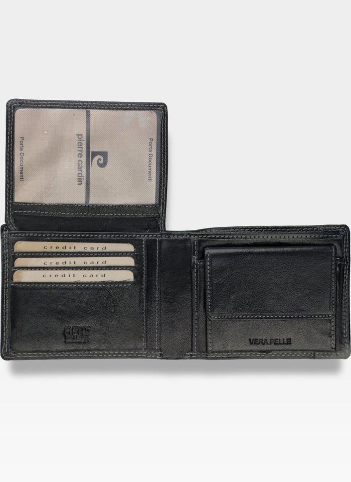 Portfel Męski Pierre Cardin Skórzany Czarny Lukas14 8806 RFID