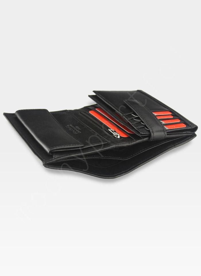 Portfel Męski Pierre Cardin Skórzany Klasyczny Czarny TILAK07 330 RFID Czarny + Czerwony