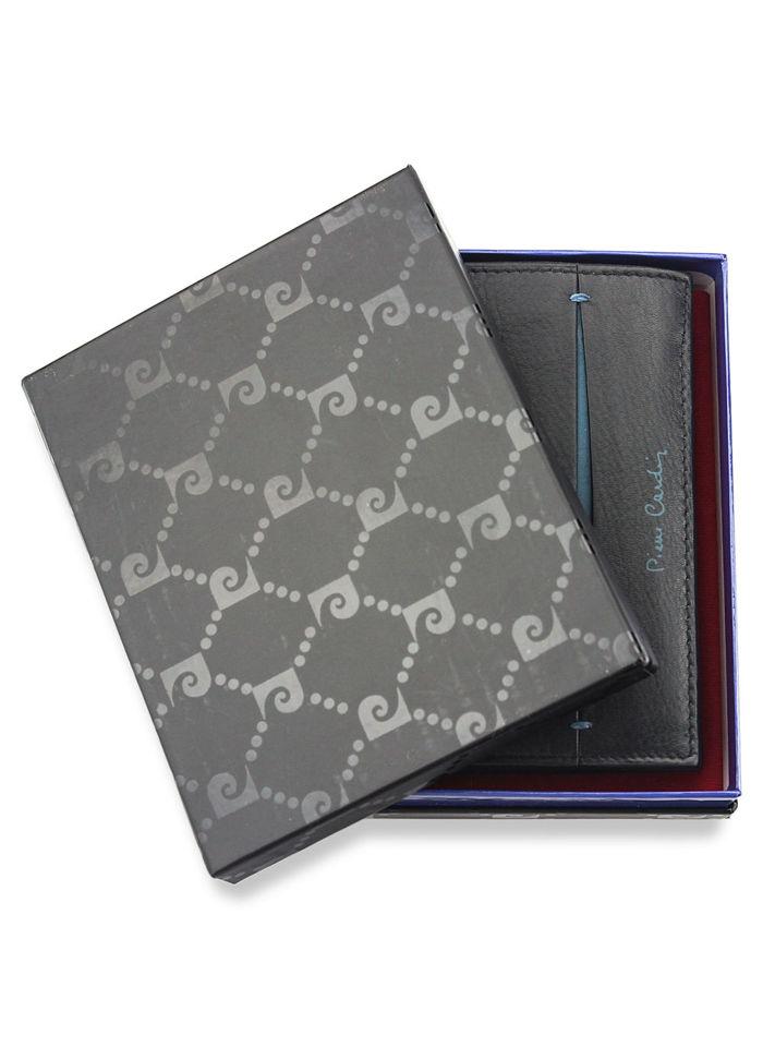 Portfel Męski Pierre Cardin Skórzany Klasyczny Czarny TILAK07 330 RFID Czarny + Niebieski