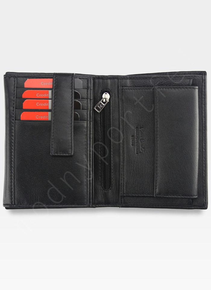 Portfel Męski Pierre Cardin Skórzany Klasyczny Czarny Tilak22 330 RFID