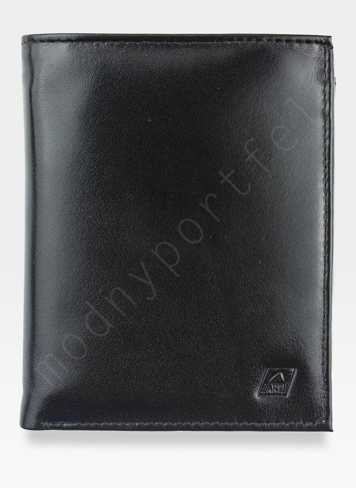 Portfel Męski Skórzany A-Art Elegancki DUŻY 3496/n51 Czarny RFID