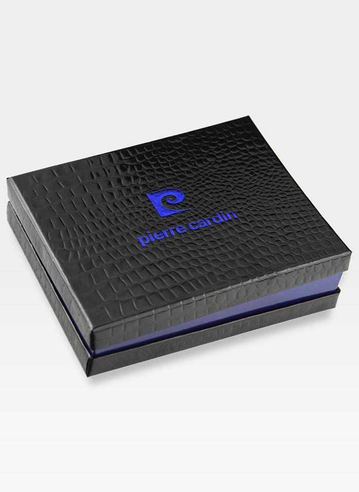 Portfel Męski Zapinany Pierre Cardin Skórzany Klasyczny Tilak06 323A Pudełko