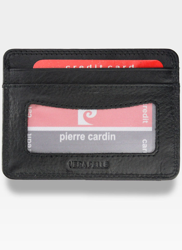 Portfel Skórzany Męski Pierre Cardin Cardholder Mały Czarny P02