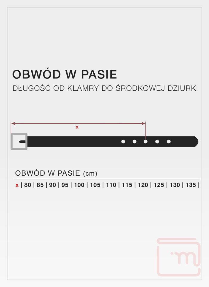 Skórzany Pasek Męski Pierre Cardin 70081 Skóra Najwyższej Jakości