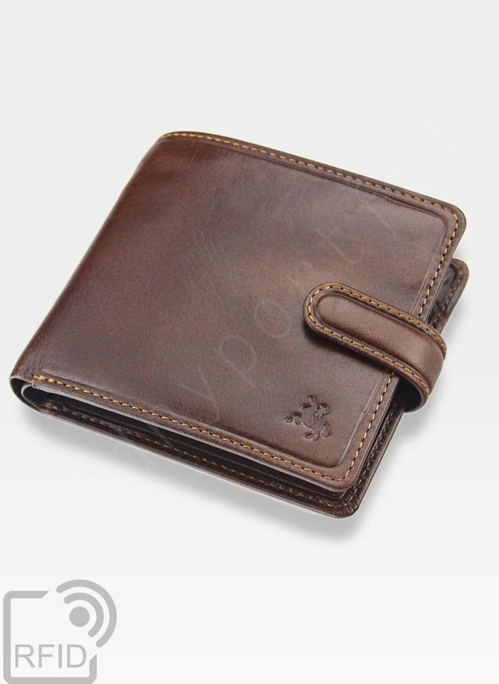 Viscont Bezpieczny Portfel Męski Skórzany Jasny Brąz RFID TSC41