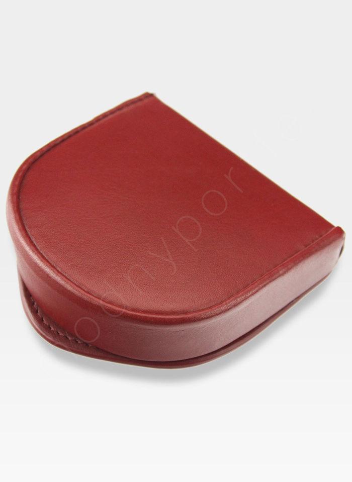 Visconti Podkówka Portfel Męski Skórzany Wysokiej Jakości Skóra Czerwony