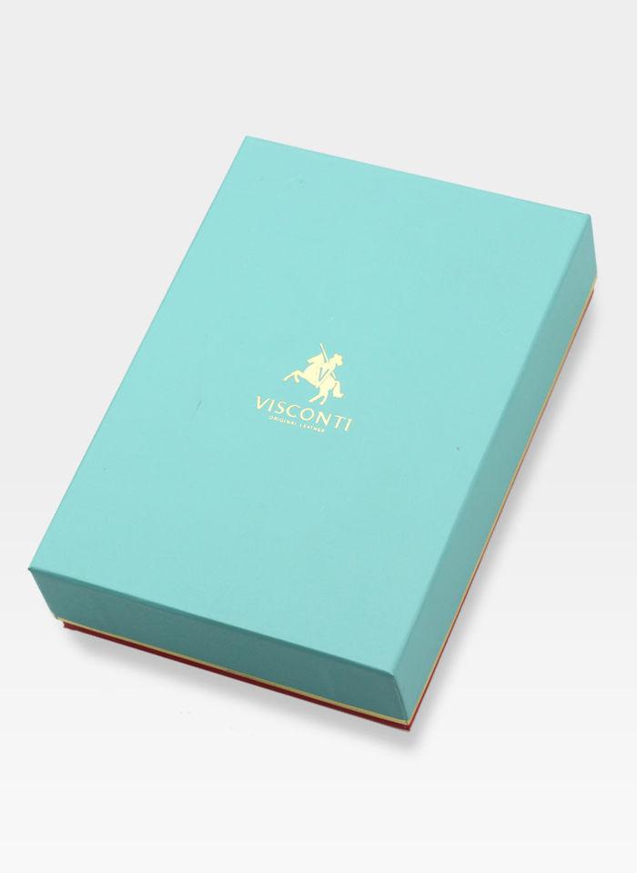 Visconti Portfel Damski Skórzany w Kwiatki Daisy DS82 Czarny