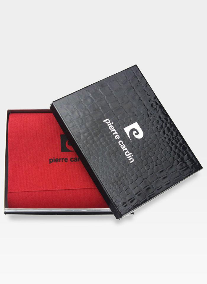 Zapinany Portfel Męski Pierre Cardin Skórzany Czarny Tilak09 331A RFID Pudełko