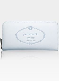Pojemy Portfel Damski Pierre Cardin z metalową ramką w środku na drobne