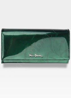 Portfel Damski Pierre Cardin Skórzany Zielony w Liście 114