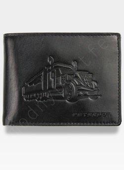Portfel Męski Peterson Skórzany Classic Czarny z Tirem Ciężarówka 304