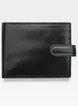 Visconti Portfel Męski Skóra Włoska MONZA MZ5 Czarny RFID